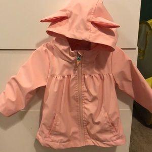 Pink bunny rain coat